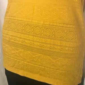 🌻Mossimo Knit Mustard Yellow Tank Top NWOT